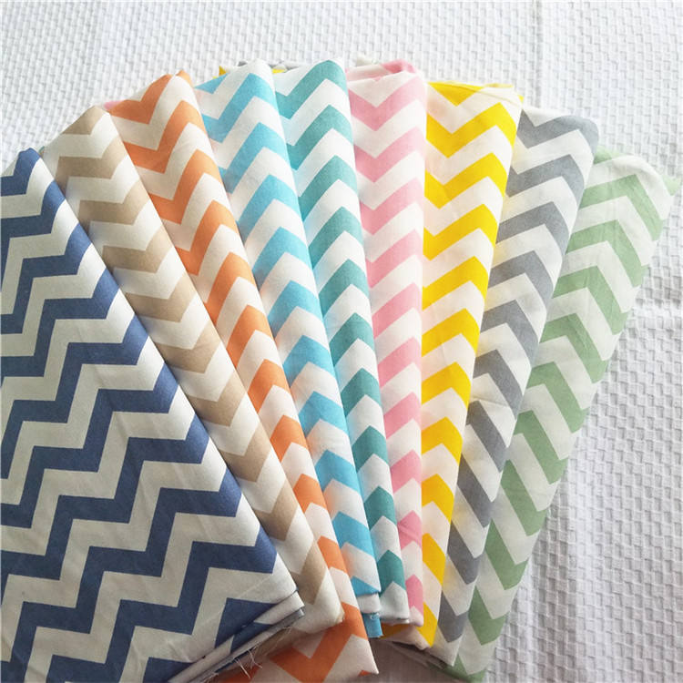 China new fashion digital printing stripe 100% cotton fabric