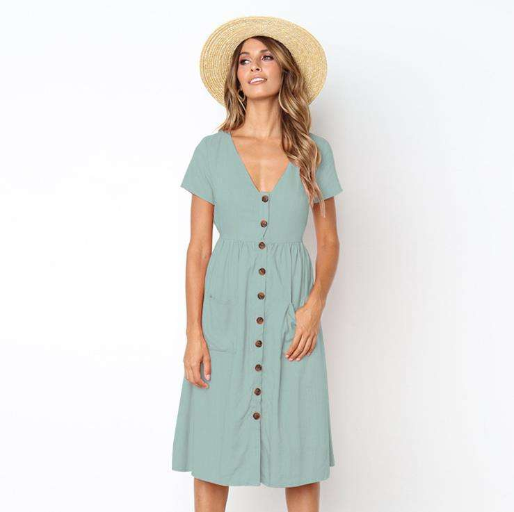 summer online shopping latest casual dress patterns ladies/lady button down cotton linen dress fashion for mature woman