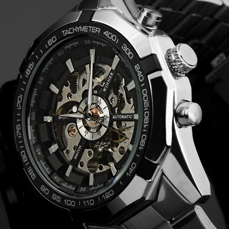 Mens Watches top brand luxury Winner 340 Fashion 246 Skeleton Clock Sport Watch Automatic Mechanical Watches Relogio Masculino