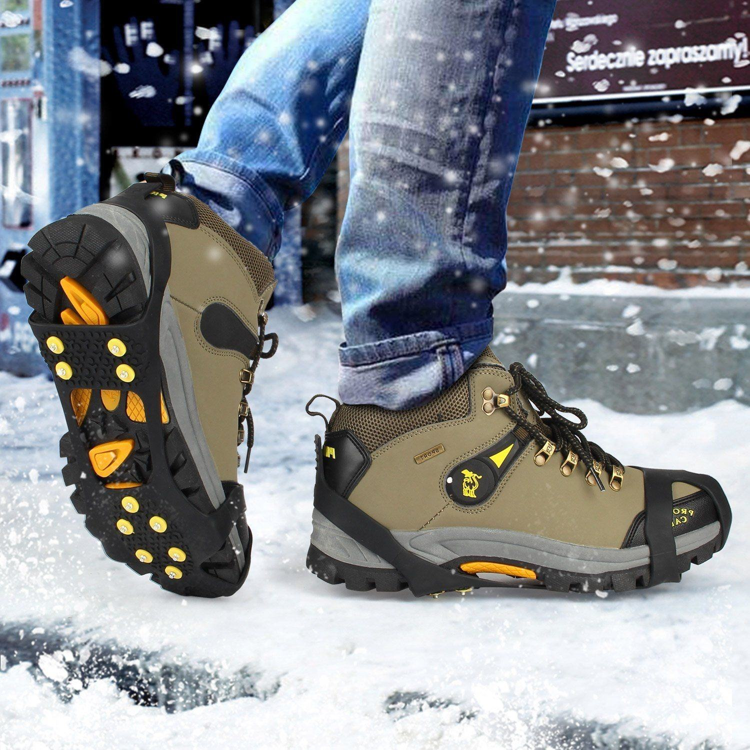 Anti-Slip Ice Snow Spike Grip Gripper Crampon Cleats For Shoe Boot Overshoe New