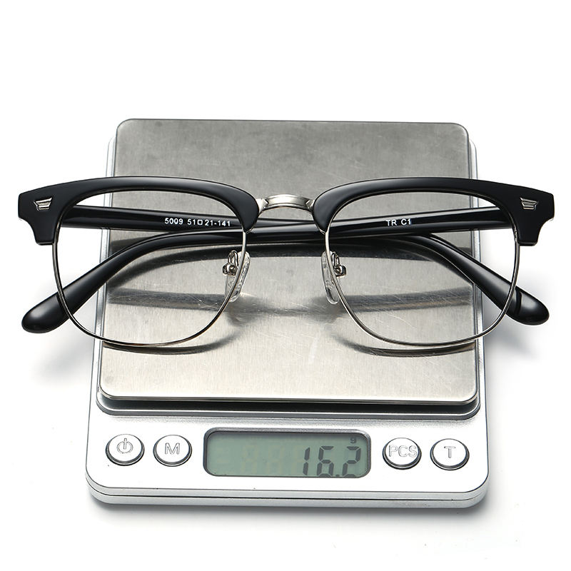 unisex computer glasses anti blue light half rim TR90 optical frame eyeglasses
