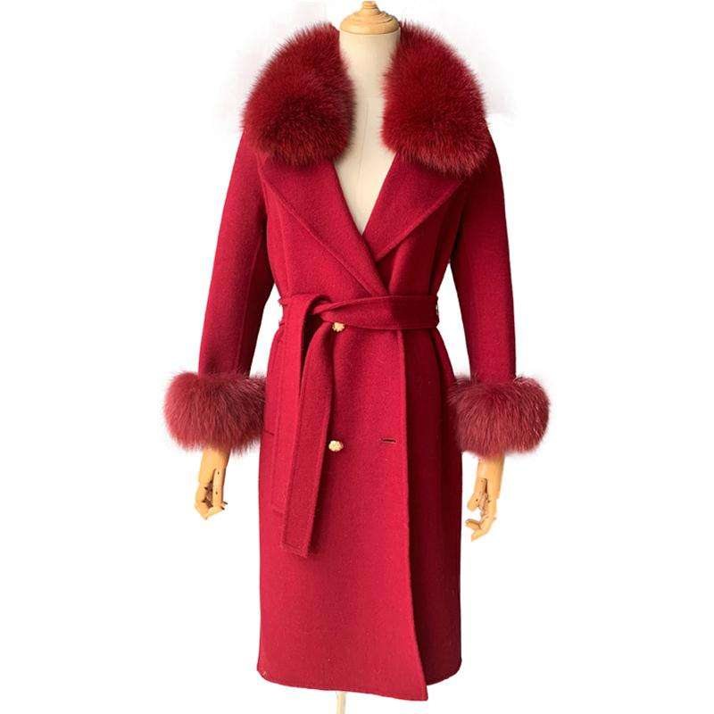 2019 Fashionable Hot Sell Wholesale Women's Long Style Winter Female Wool Trench Coat Womens / OEM ODM Japan Wool Coat