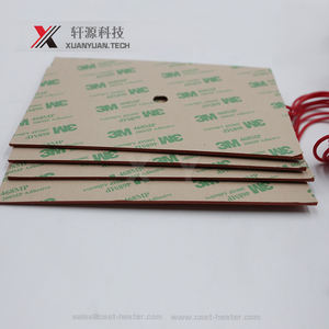 Hot sale Flexible 300x300mm 12v silicone rubber heater for 3d printer heated beds