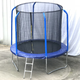 Replacement 8ft 10ft 12ft Trampoline Rain Cover for Circular Trampolines Black