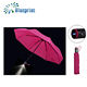 red manually windproof folding led electric umbrella