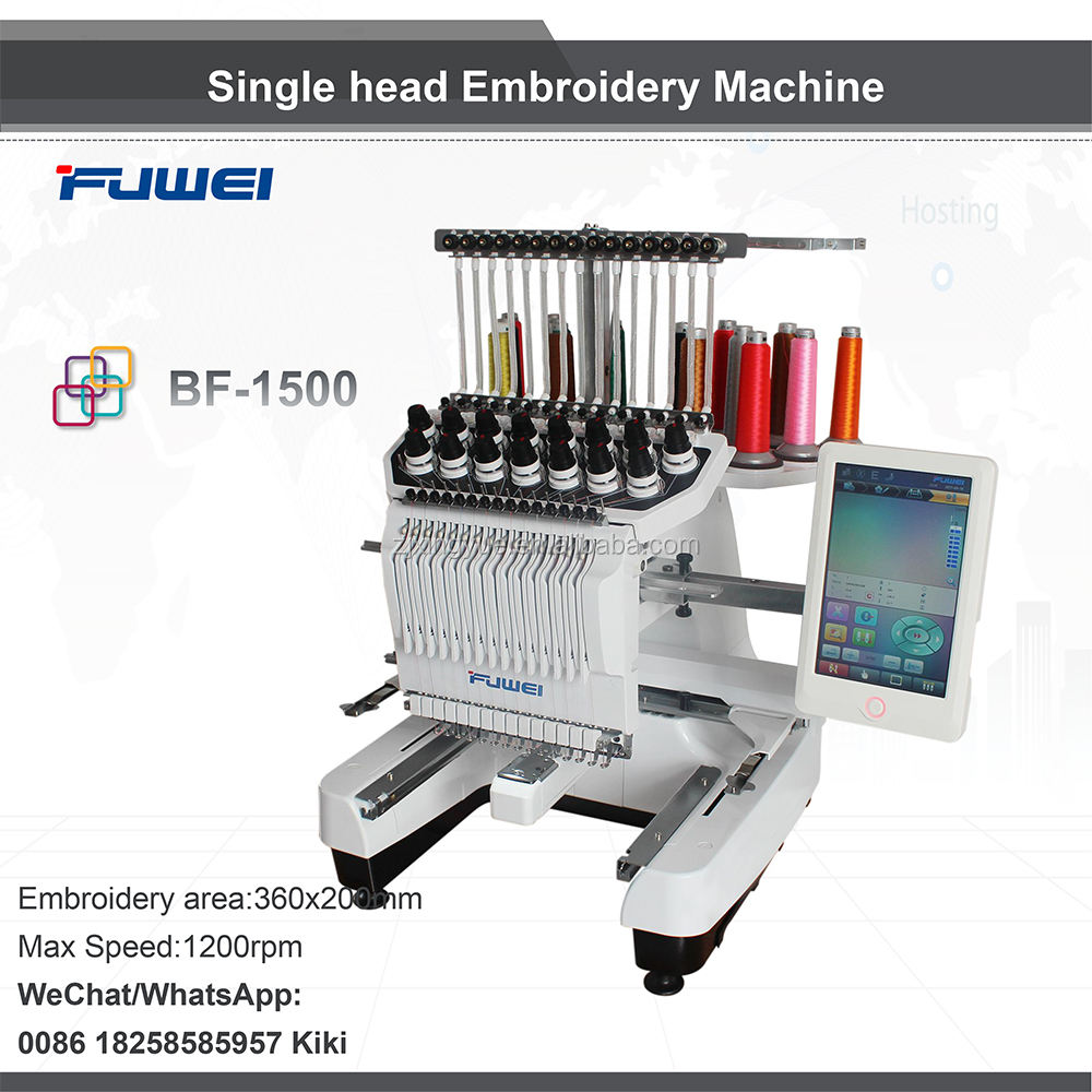 Hot sale newest home computer embroidery machine with single head for tajima embroidery machine price