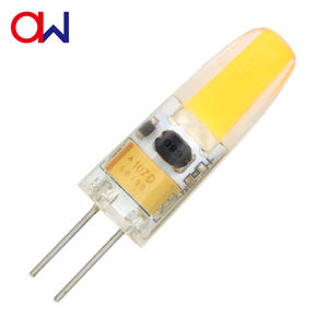 High lumen COB dimmable bi pin G4 LED AC12V Lamp for Living Room Silicon cover