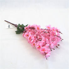 Chinese Supplier Cheap Wholesale Artificial Silk Flowers Wedding Decoration Red Peach Blossom