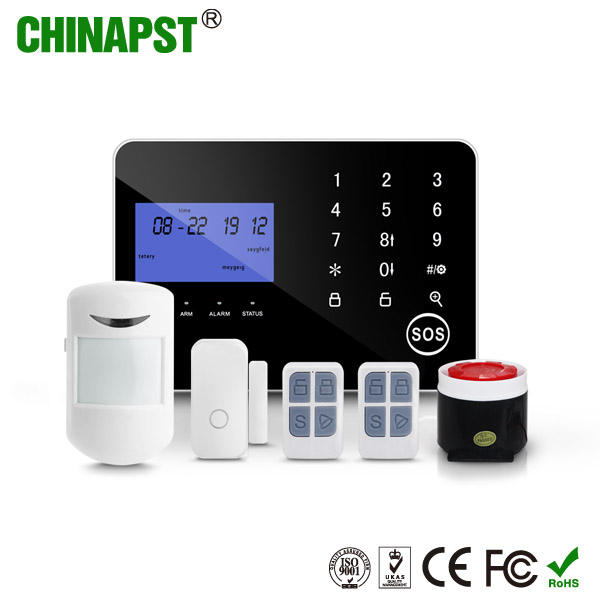 China Factory Home Security PIR/Door/Smoke Intruder Burglar Wireless Smart Alarm System With Ios/Android App PST-PG994CQT