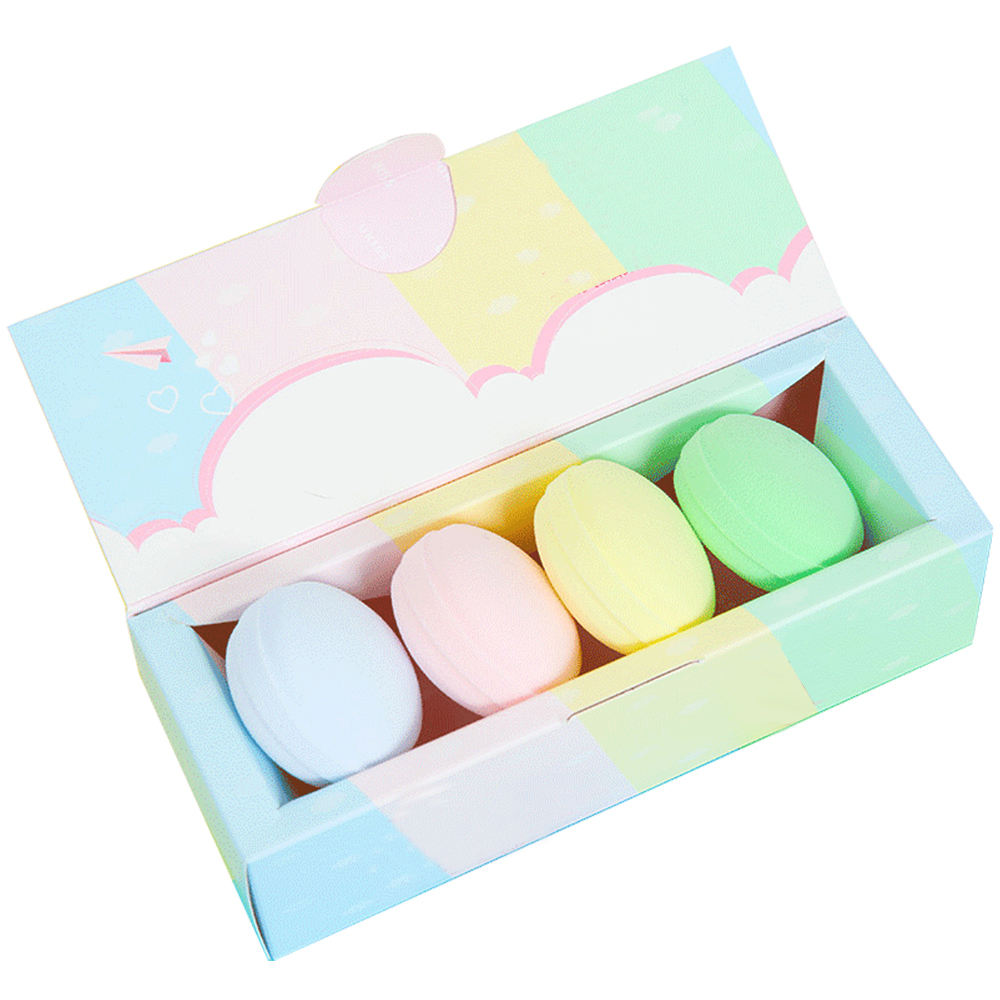 Customized Packaging Box Cosmetic Company Advertisement Beauty Sponge Puff Kit Super Soft Makeup Macaron Puff Sponge Sets