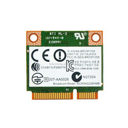 666914-001 BCM943228HMB 2.4/5G 802.11 a/b/g/n 300M + Bluetooth 4.0 Wireless Card for HP Notebook