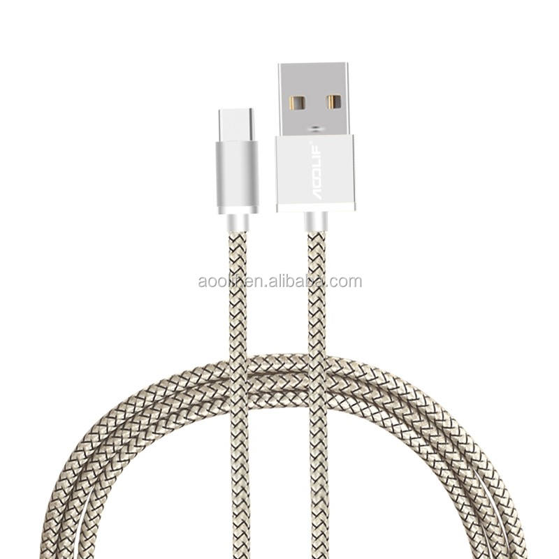 China cheap price braided usb-c cable for Samsung Android phone usb type c cable 3.0