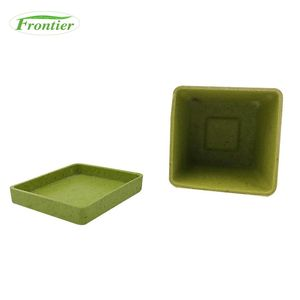 Low Price Biodegradable Eco Friendly Bamboo Fiber Flower Square Plant Pot