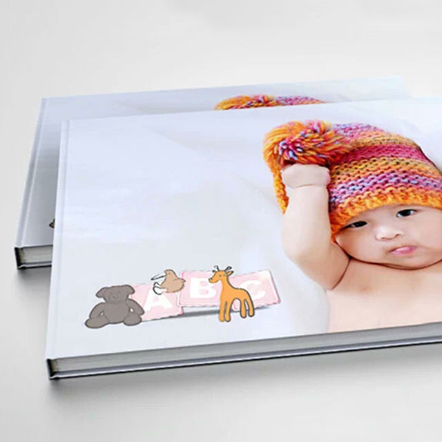 High Quality Hrdcover Deluxe Binding Custom Printed Photo Baby Memory Book