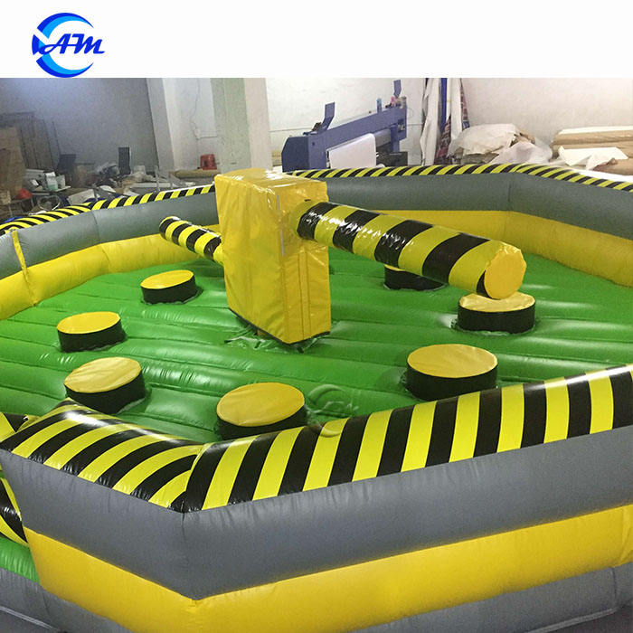 2021 new style inflatable sweeper game inflatable meltdown sale inflatable wipeout games eliminator