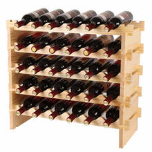 30 bottle stackable wood racks wine bottle display rack