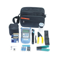 Practical Fiber Optic FTTH Tool Kit with FC-6S Fiber Cleaver and Optical