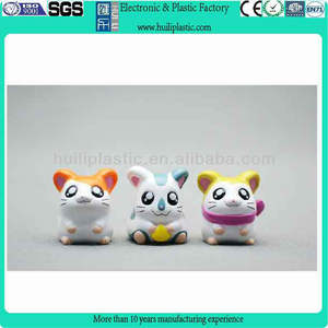 Custom cartoon cat figure plastic gadget for kids,custom plastic cat figure kids gadget