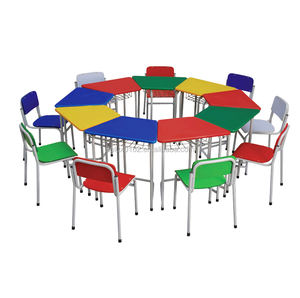 colorful classroom table chair set modern school furniture set A1503