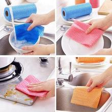 viscose disposable kitchen clean wipe dry wet dish cloth