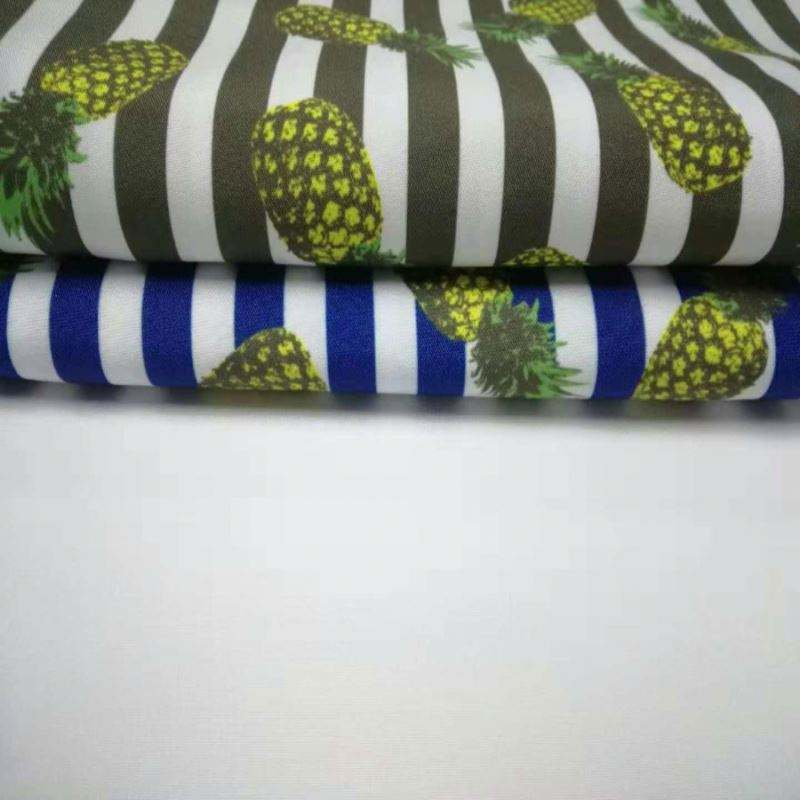 Wujiang shengze Pineapple print beach short fabric plain Print 100% Polyester Peach Skin Fabric