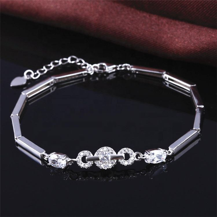 Professional OEM Supply 925 Sterling Pure Silver Jewelry Bracelet For Girl