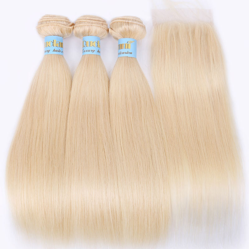 Nano Tip [ Wave Bundles ] Straight Hair Bundles Wholesale Virgin Cuticle Aligned Hair Straight Wave 613 Human Hair Russian Hair Bundles