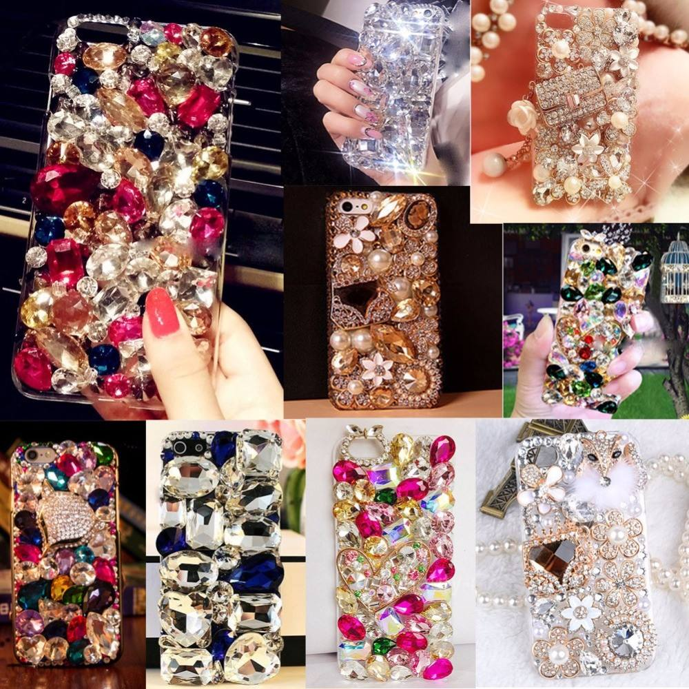 Bling Lovely Crystal Diamonds Rhinestone 3D Stones Phone Case Cover for iphone 7/7Plus/6/6S for Samsung Galaxy S5 6 7 EDGE