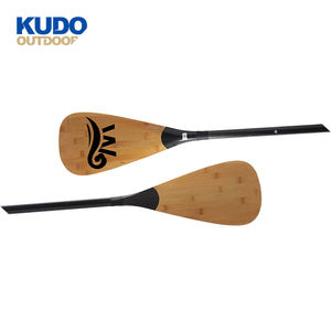 KUDO FREIEN Einstellbare Stand Up Paddle Board Bambus Carbon Sup Paddle