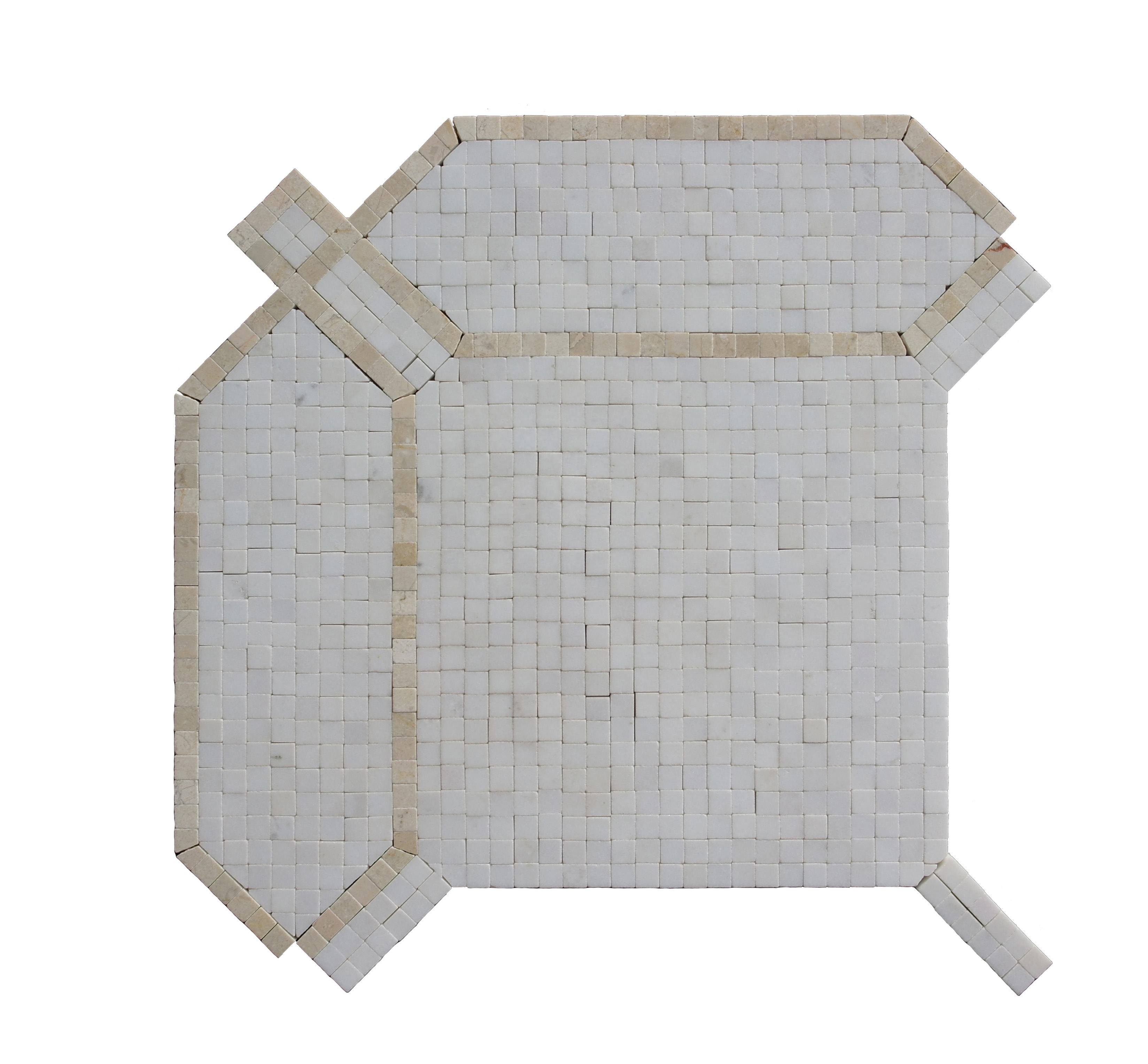 Manufacturer Whosale White Marble Water Jet Mosaic Wall Tile