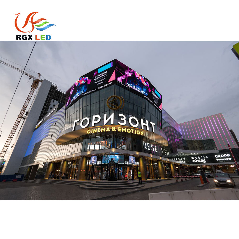 Fashionable Design Led Screen Outdoor Message Moving P10 Red Color Led Screen