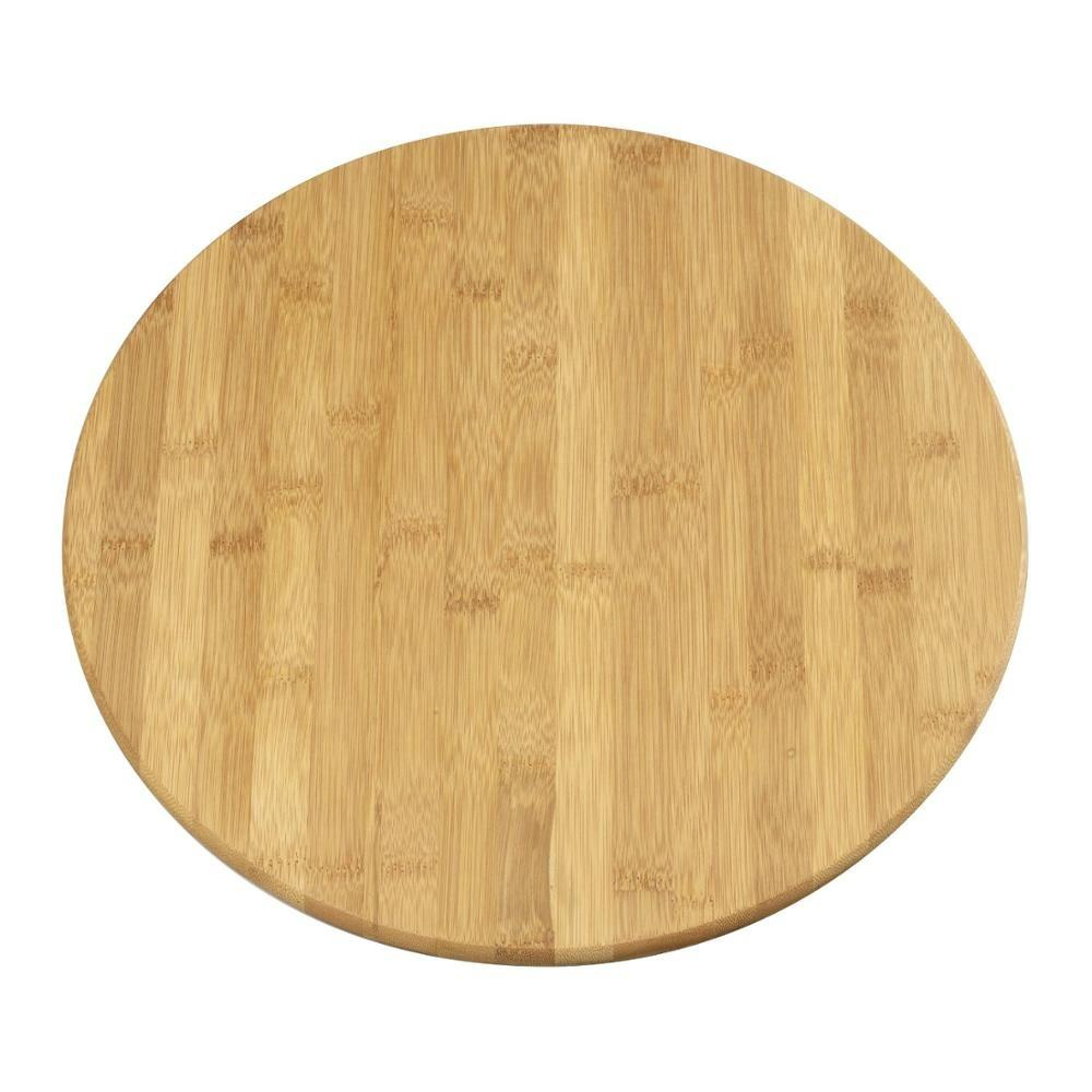 Eco-friendly Bamboo Round Cutting Board /Cheese Serving Tray and Charcuterie Platter