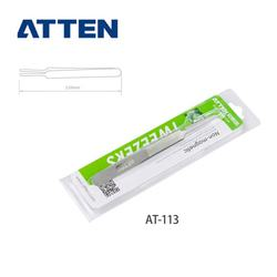 ATTEN AT-113 hot sale Anti-static 120mm stainless steel tweezers