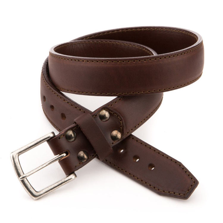 Factory Price High End Vegetable Tanned Real Leather Belt With Alloy Buckles Best Gifts For Christmas