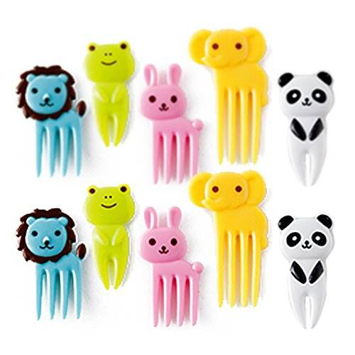 10 pc Animal Food Picks from Japan Bento Box Accessory Set Lunch Box Elephant