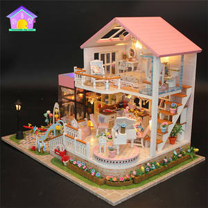 Guangzhou 3D Puzzle Dollhouse Miniatures, 3D Wooden Puzzle Diy Dollhouse