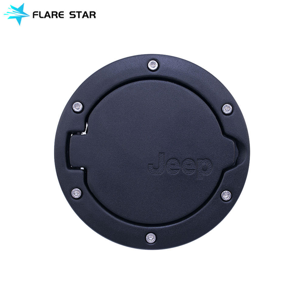 Fuel Filler Door Cover, Fuel Tanks Cap for JK 07-16, Jeep Wrangler Auto Accessories Gas Door Cover