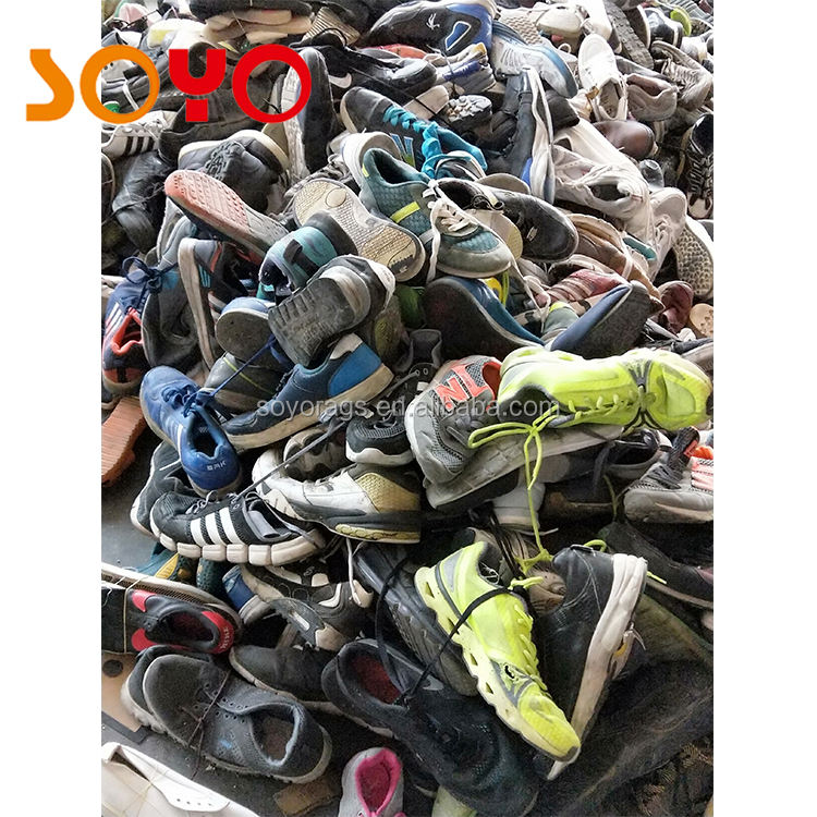 All Kind of Fashion Bulk Cheap Mixed Used Shoes sack pack in 25kg
