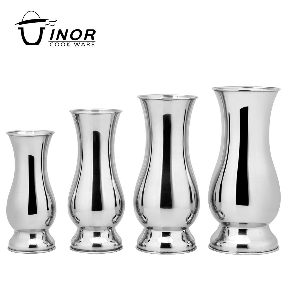 stainless steel home goods decorative silver flower vase for hotel