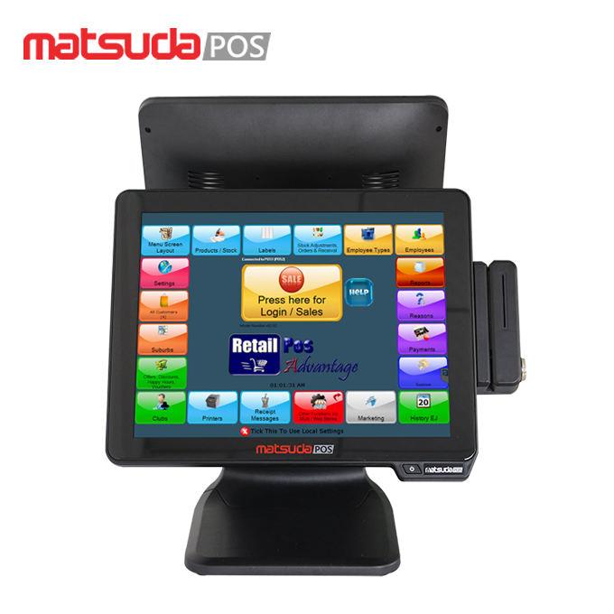 Сенсорный экран ЖК дисплей pos мониторы промышленный компьютер i3 Ресторан системы