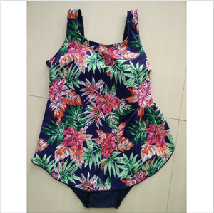 2017 Women swimwear colorful print fabric plus size one piece swimsuit swimming wear swimming suits