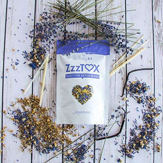 SkinnyFit ZzzTox Night time Detox Tea Release Toxins Before Bedtime for a Restful Sleep