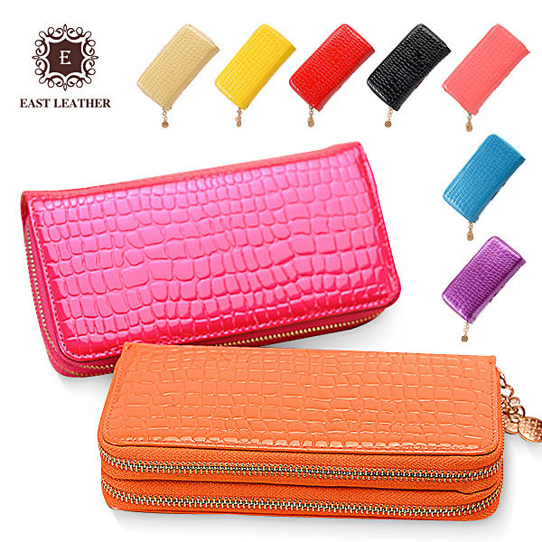European style fashion latest ladies clutch purse with Double zips