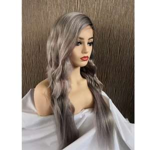 Grey Lace Front Wig Brazilian Virgin Human Hair Glueless Full Lace Wigs For Black Women