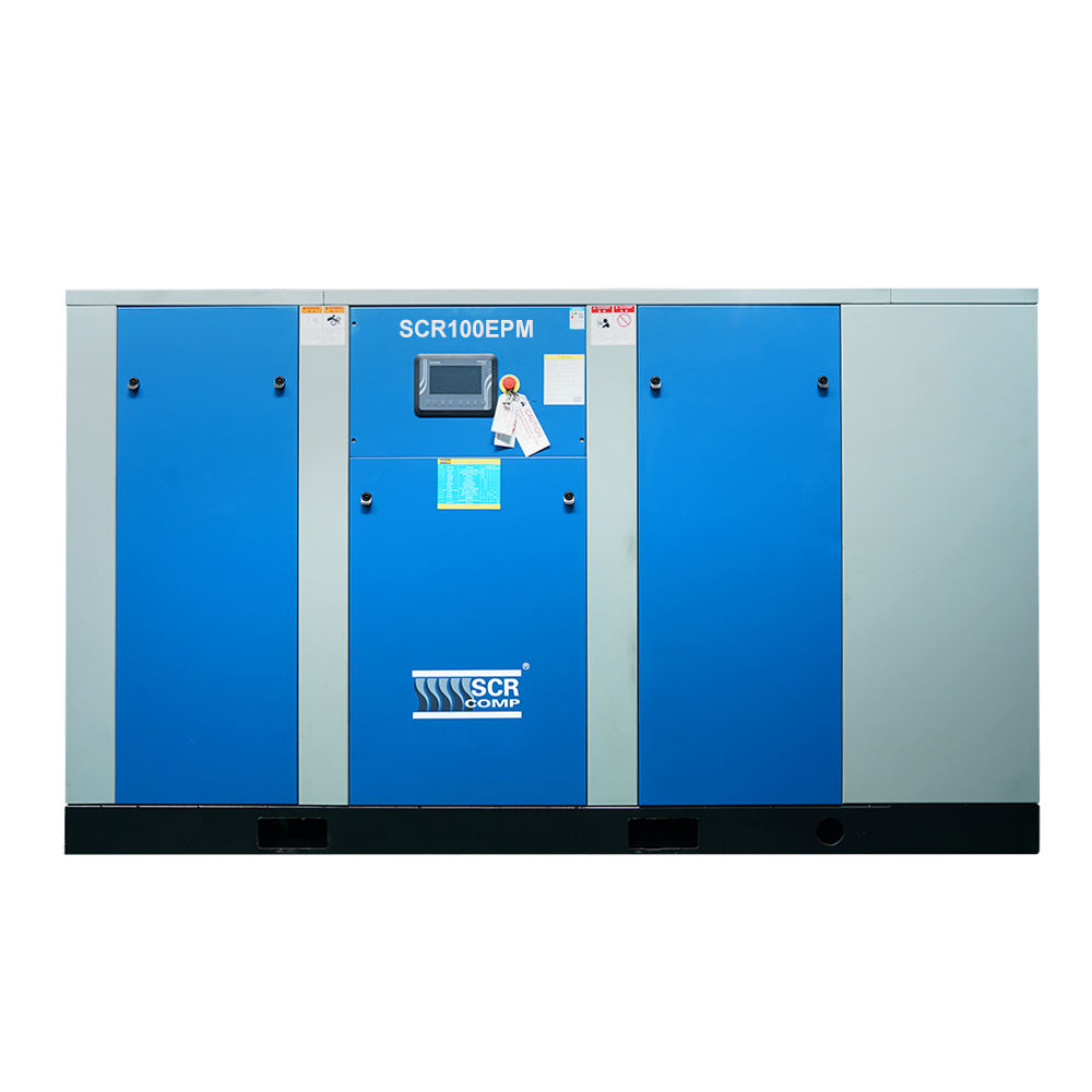 SCR100EPM 75KW 100HP Energy Saving high efficiency pm vsd industrial air compressor equipment