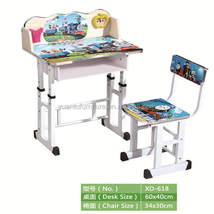 latest design children study table/ metal kids table and chair set