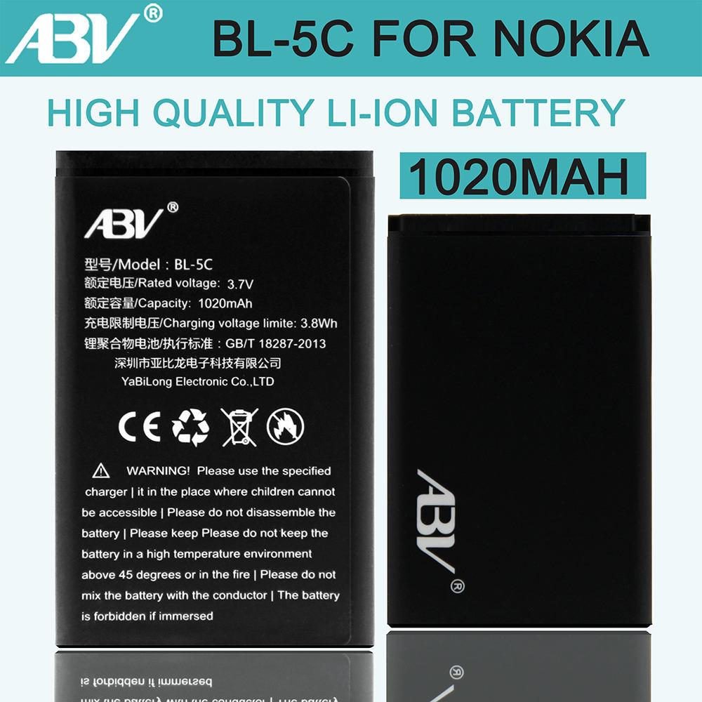 1000 1010 bl5c abv bateria bl-5c battery for nokia 1000/1010/1100/1108