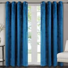 Available colors choice velvet curtains for the living room luxury navy