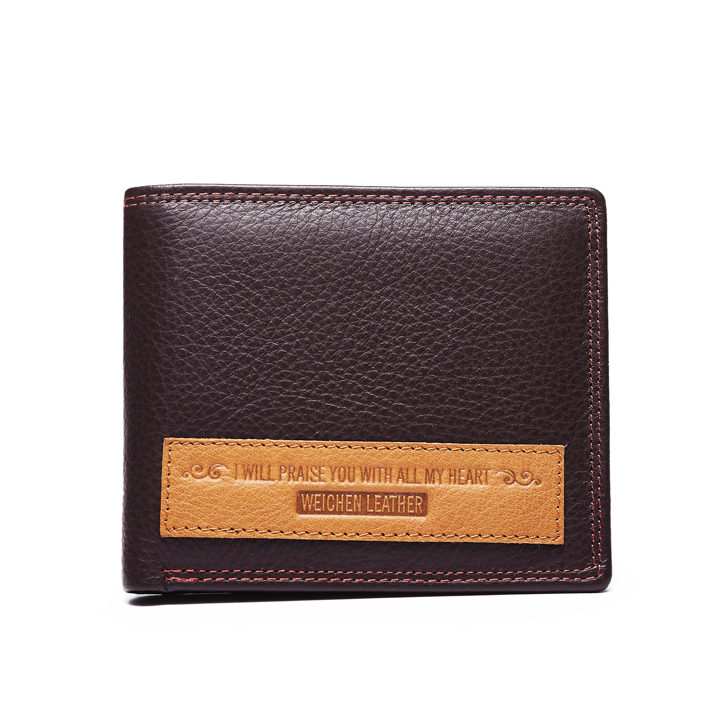 Available Fashion Bifold with Credit Card Slot Genuine Leather Wallet for Men