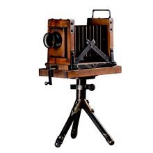 Creative  Retro Camera Model Vintage Nostalgia Ornament Antique Metal Craft Bar Home Decor Gift